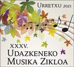 Urretxuko Udazkeneko Musika Zikloaren kartela 2021
