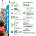 Cartel de Fiestas de Xoxoka de Urnieta 2016