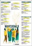 """Cartel del programa """"8 de Marzo"""" en Urola Garaia 2020"""