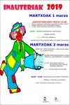 Urretxu-Zumarragako Inauterien kartela 2019