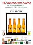Cartel de la Feria de la Cerveza de Villabona 2018