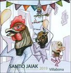 Cartel de las fiestas de Santiago de Villabona 2019