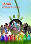 Cartel del Programa Fiestas de Vista Alegre de Zarautz 2013