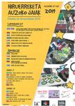 Cartel de Fiestas de Hiruerreketa de Zarautz 2019