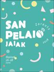 Cartel del Programa Fiestas de San Pelayo de Zarautz 2018