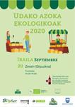 Cartel de la Feria de Agricultura Ecológica de Gipuzkoa en Zerain 2020