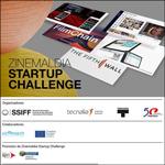 """Cartel de la sección """"Zinemaldia Startup Challenge"""" del Zinemaldia 2020"""
