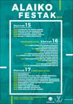 Cartel de las fiestas de Alai de Zumaia 2018