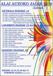 Cartel de las fiestas de Alai de Zumaia 2019