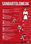 Cartel de las Fiestas de San Bartolomé de Oikia en Zumaia 2019
