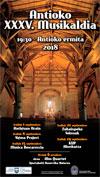 Cartel del Antioko Musikaldia de Zumarraga 2018