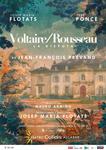 """""""Voltaire / Rousseau. La disputa"""" antzezlanaren kartela"""