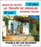 """Cartel de la obra """"Puebla de las mujeres"""""""