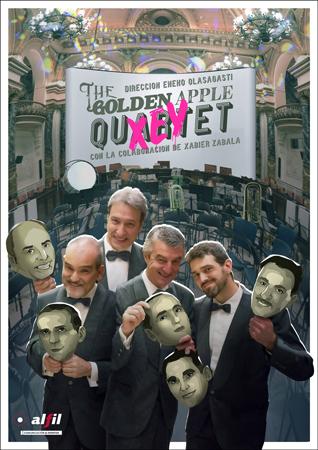 """Cartel del concierto """"The Golden Apple... Xey"""""""