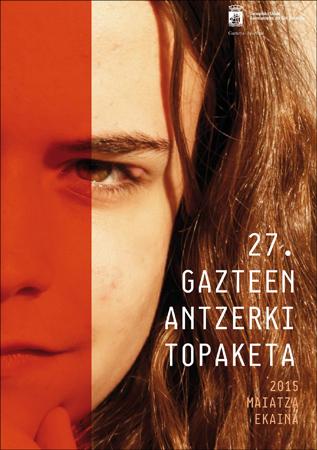 Donostiako Gazteen Antzerki Topaketa foiletoaren azala 2015