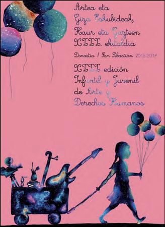 Cartel de la edición Infantil y Juvenil de Arte y Derechos Humanos de Donostia 2017