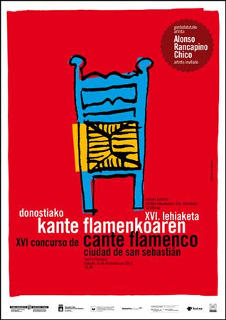Cartel Concurso cante Flamenco de Donostia 2016