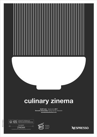 """Cartel de la sección """"Culinary Zinema"""" del Zinemaldia 2017"""