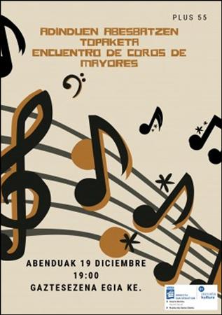 Cartel del Encuentro De Coros De Mayores de Donostia 2019