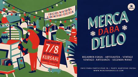 Cartel del Mercadabadillo Navideño de Donostia 2019
