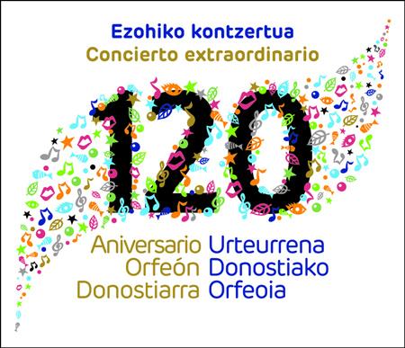 Cartel del concierto del Orfeón Donostiarra