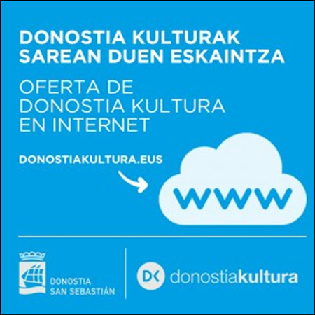 Folleto de la Oferta de Contenidos de Donostia Kultura en Internet