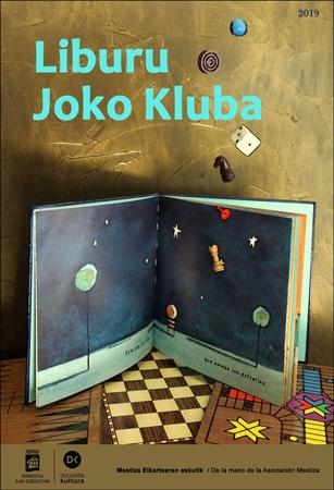 """Cartel del taller """"Liburu Joko Kluba"""" de Donostia 2019"""