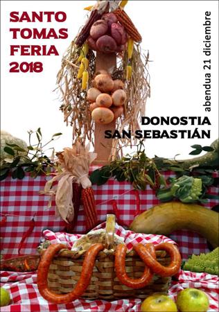 Cartel de la Feria de Santo Tomás de Donostia 2018