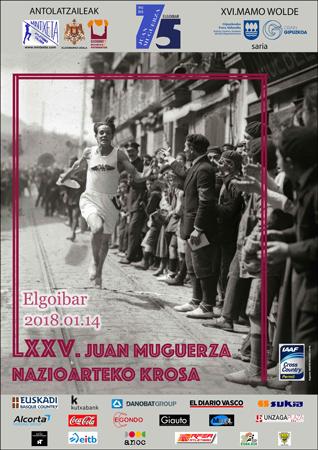 """Cartel del Cross Internacional """"Juan Muguerza"""" de Elgoibar 2018"""