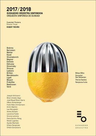 Cartel de la Temporada de abono 2017-2018 de la Orquesta Sinfónica de Euskadi