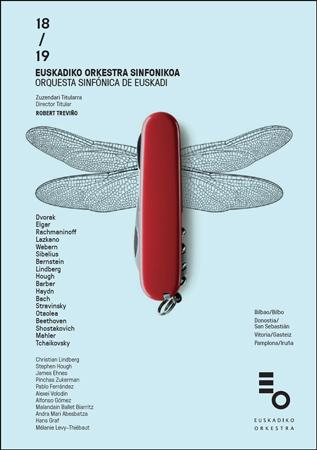 Cartel de la Temporada de abono 2018-2019 de la Orquesta Sinfónica de Euskadi