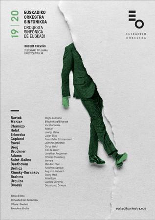 Cartel de la Temporada de abono 2019-2020 de la Orquesta Sinfónica de Euskadi