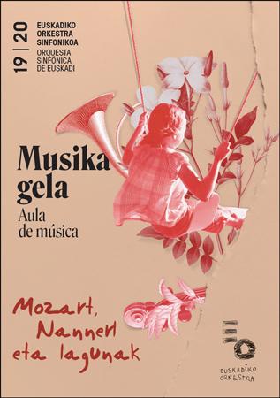 """""""Mozart, Nannerl eta Lagunak"""" kontzertuaren kartela 2019"""