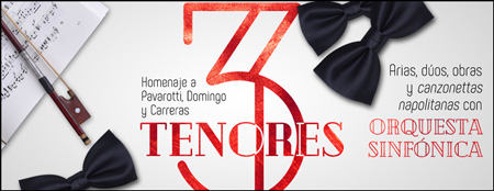 """Cartel del Concierto """"3 Tenores"""" 2018"""