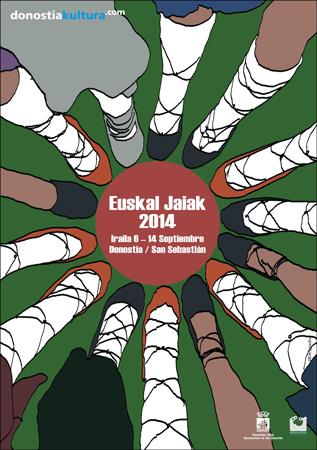 Cartel de las Euskal Jaiak de Donostia 2014