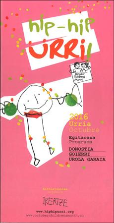 """Folleto de """"Hip-Hip Urri!"""" de Gipuzkoa 2016"""