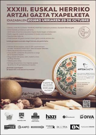 Cartel del Concurso de Artzai Gazta de Euskal Herria 2016