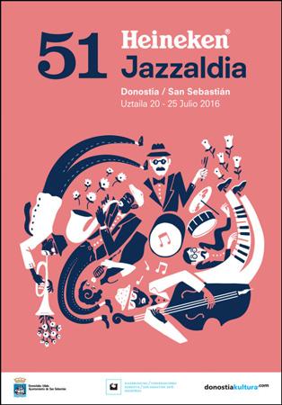 Cartel del Festival de Jazz de Donostia 2016