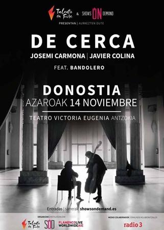 Cartel del concierto de Josemi Carmona & Javier Colina