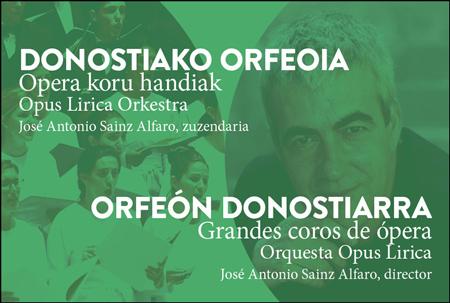 """Cartel del concierto """"Grandes Coros de Ópera"""""""