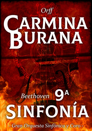 """Cartel del concierto """"Carmina Burana"""" + """"9ª Sinfonía"""" 2019"""
