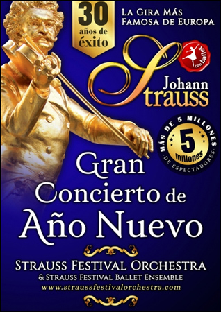 """Cartel del Concierto """"Gran Concierto de Año Nuevo"""" 2019"""