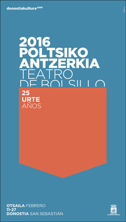 Cartel del Festival de Teatro de Bolsillo de Donostia 2016