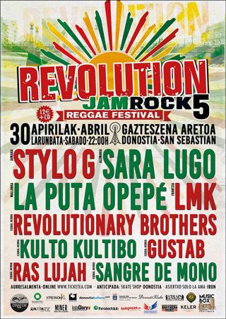 """Revolution JamRock Fest! 5"" jaialdiaren kartela"