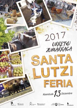 Cartel del Programa de la Feria de Santa Lucía de Urretxu y Zumarraga 2017