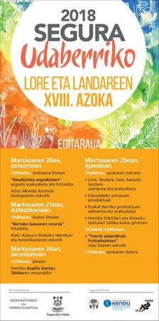 Cartel de la Feria de Primavera de Plantas y Flores de Segura 2018