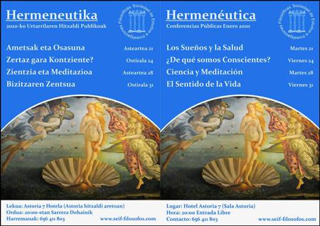 """Imagen 1 de la galería de Ciclode Conferencias: """"Hermeneútica"""""""