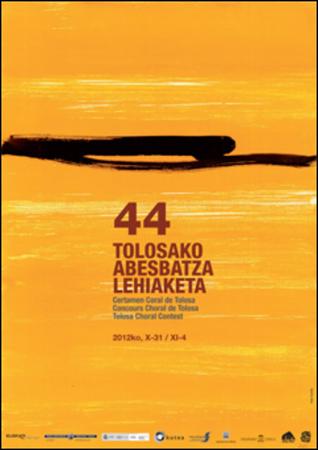 Cartel del Certamen Coral de Tolosa 2012