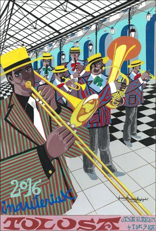 Cartel anunciador de los Carnavales de Tolosa 2016
