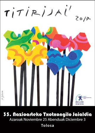 "Cartel del Festival ""Titirijai"" de Tolosa 2017"